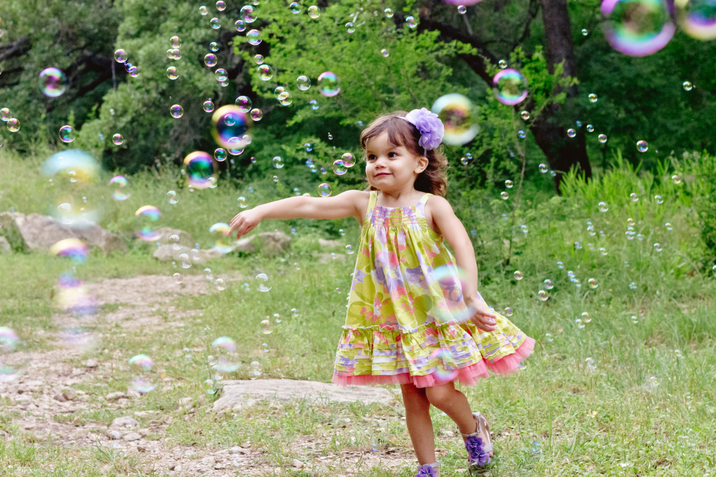 Bubbles are fun for kids and make for great props!